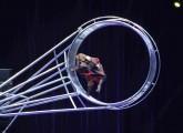 Zirkusshow mit Schimpanse in China