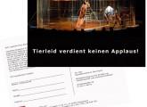 Postkartenaktion gegen Wildtierhaltung im Zirkus