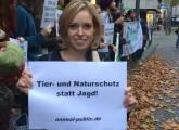 Demonstration für mehr Tierschutz im Jagdgesetz